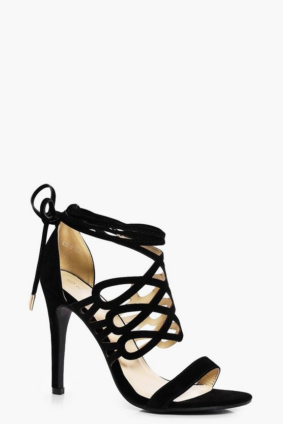 Lucy Cage Wrap Ankle Heel