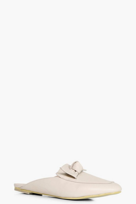 Sophie Bow Detail Slip On Mule Loafer