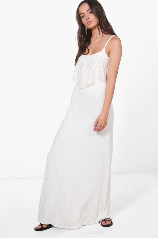 Harri Double Layer Lace Maxi Dress