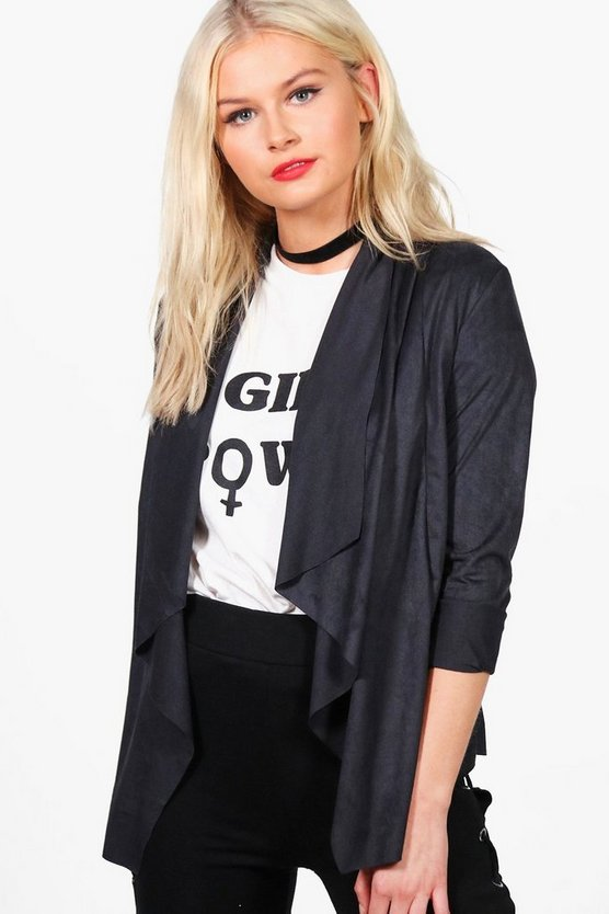 Julia Short Waterfall Suedette Jacket