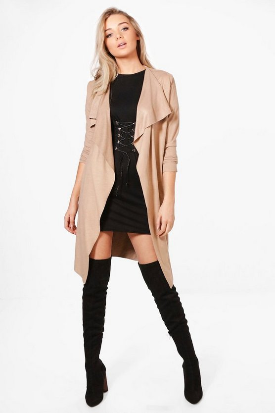 Penny Long Waterfall Suedette Jacket
