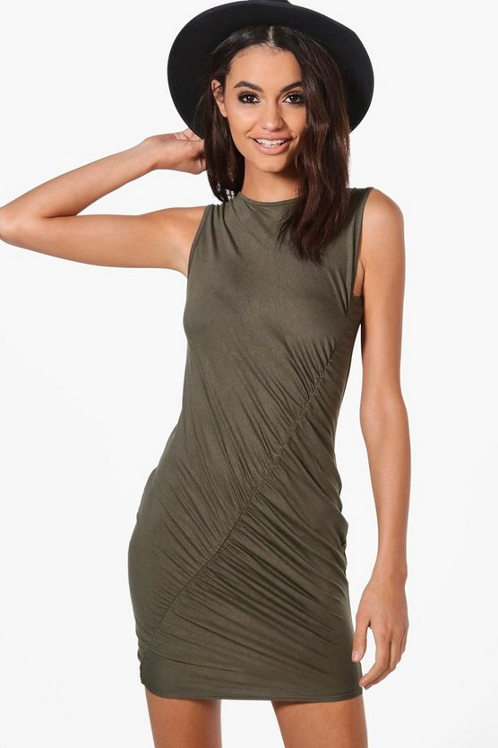 Lydia Ruched Sleeveless Bodycon Dress