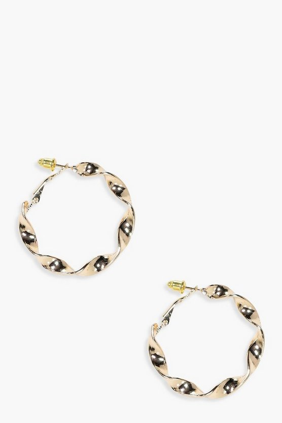 Evie Twisted Chunky Hoop Earrings