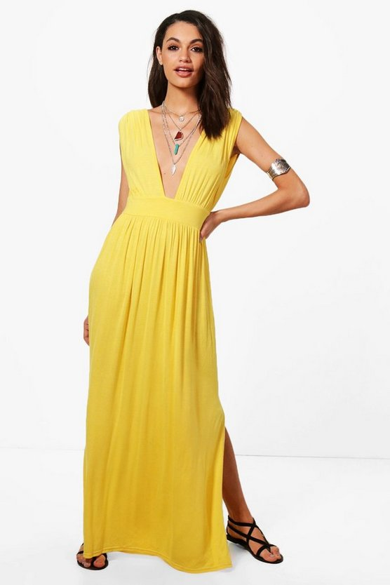 Hollie Tie Front Cross Back Sleeveless Maxi Dress