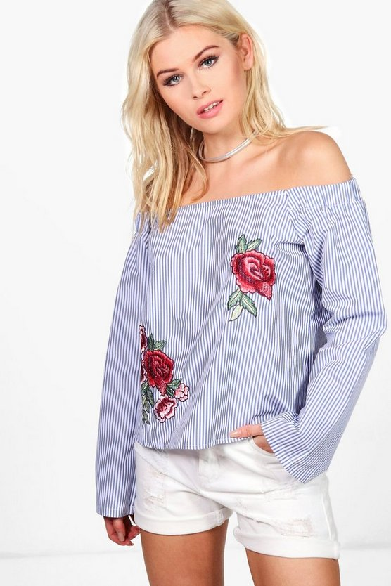 Emily Off The Shoulder Embroidered Top