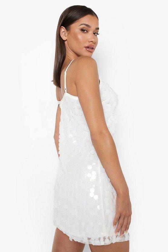 Rivinda Disc Sequin Slip Christmas Party Dress