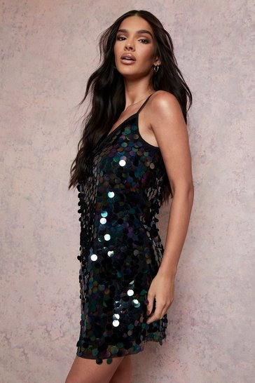 Womens Multi Rivinda Disc Sequin Slip Dress