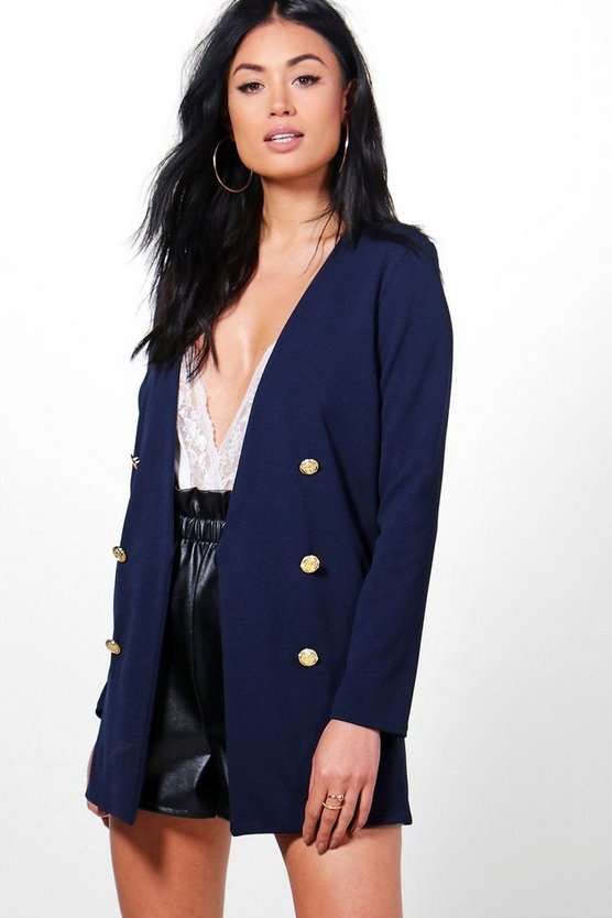 Jennifer Button Front Blazer