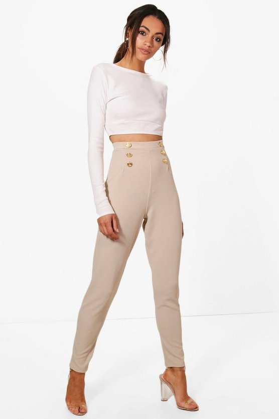 Eva Button Front Skinny Trouser