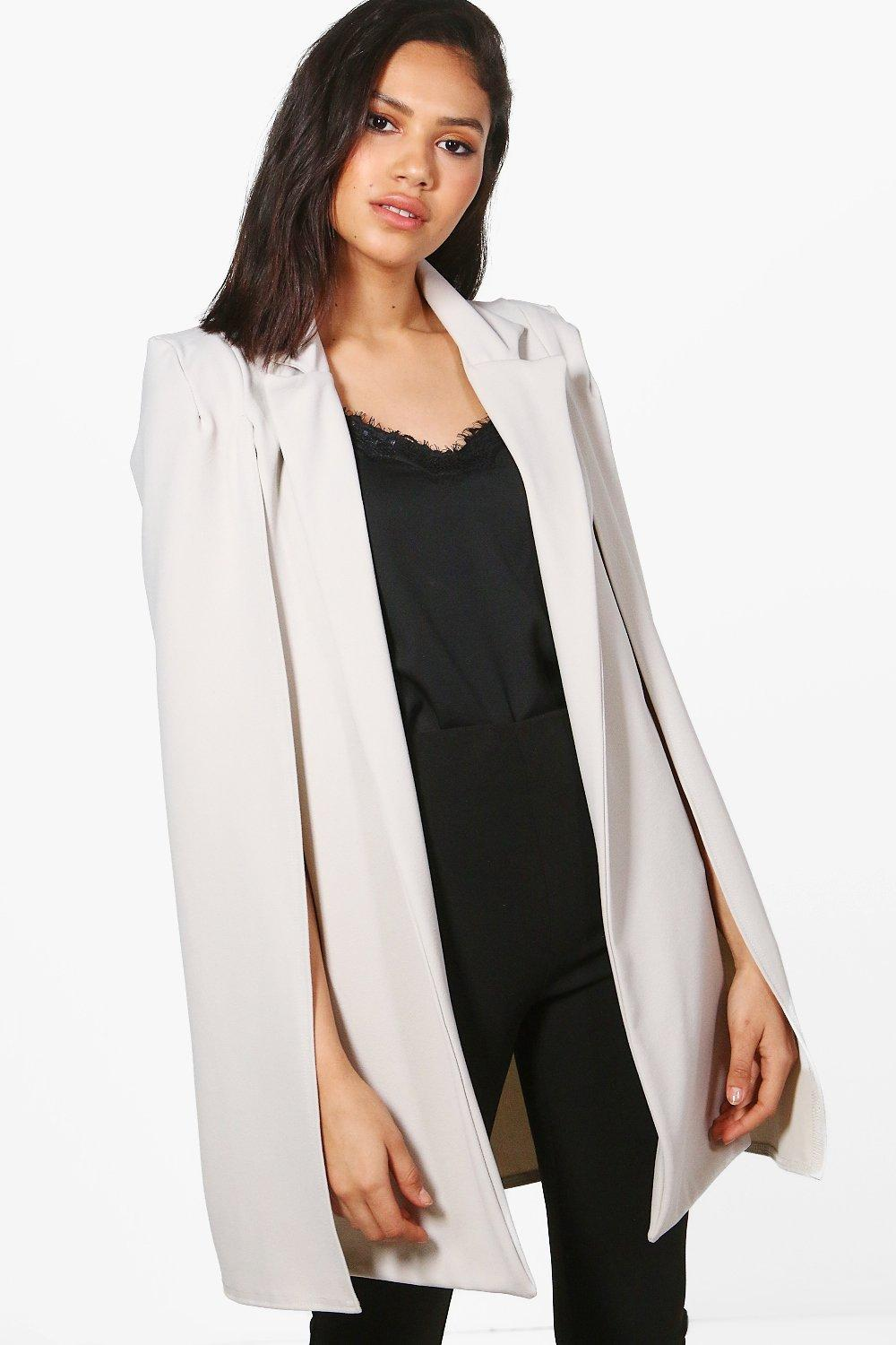 6ee9abf7265c Collared Tailored Cape Blazer. Hover to zoom