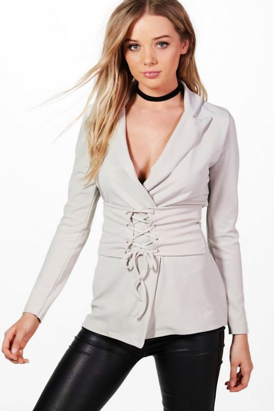 Detachable Corset Belted Blazer