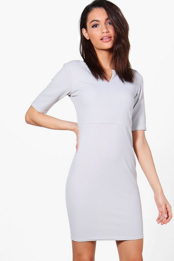 Jenna Notch Neck Tailored Dress
