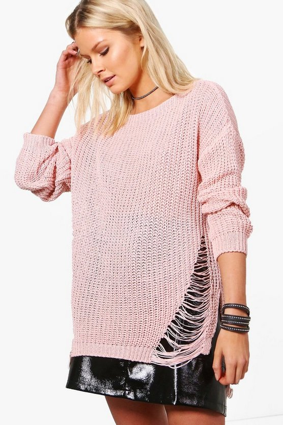 Harriet Distressed Side Jumper