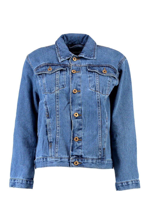 Jacket mid blue Denim Denim Oversized blue Denim Oversized Oversized blue mid Jacket Jacket mid PPnfgRBT