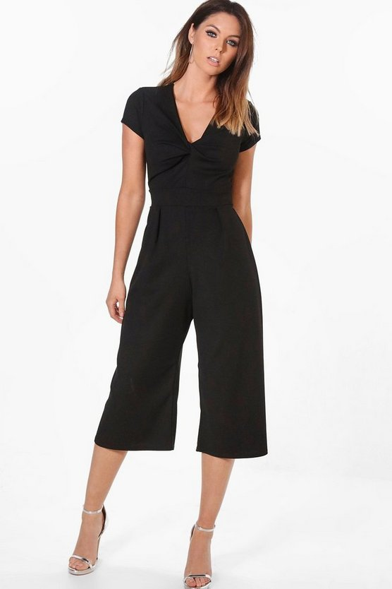 Claudia Belted Culotte Jumpsuit