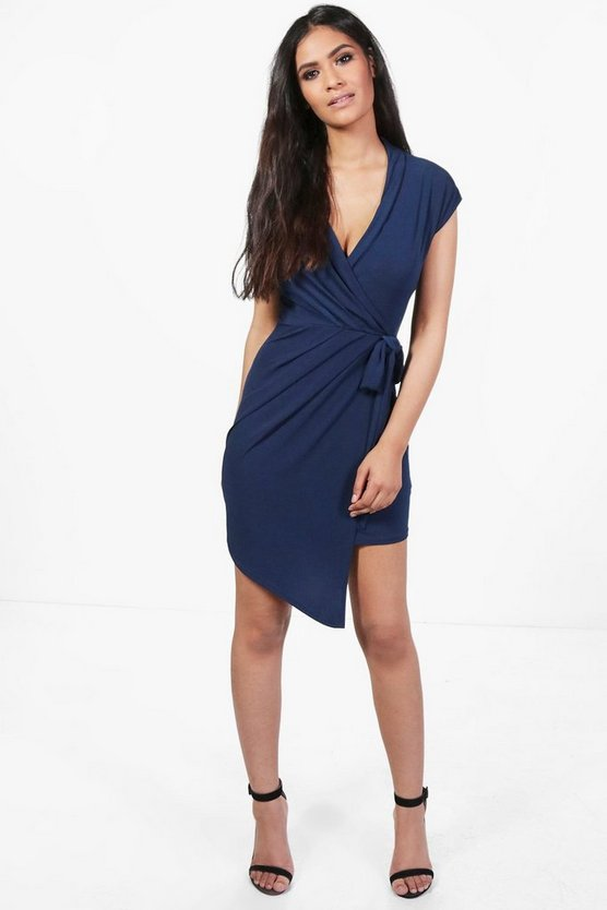 Elise Wrap Front Mini Dress
