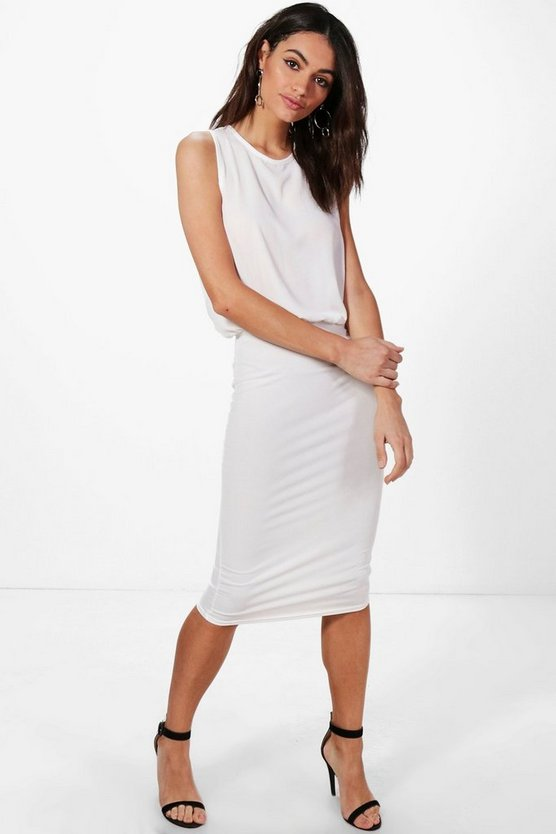 Hannah Chiffon Top Midi Dress