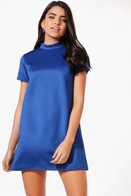 Harriet High Neck Shift Dress