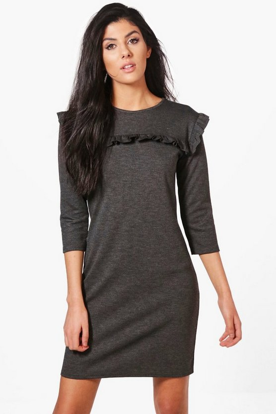 Rebecca Ruffle Shift Dress
