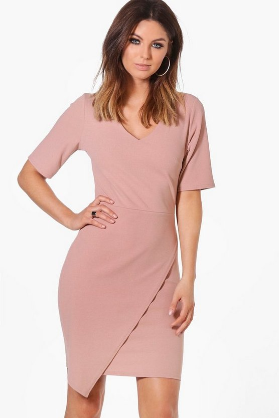 Melissa Wrap Front Dress