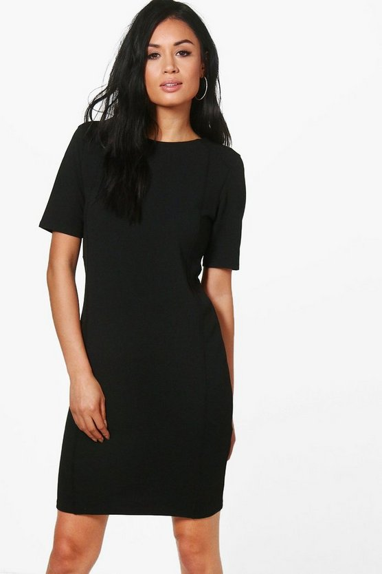 Structured Tailored Shift Dress