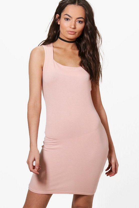 Sally Square Neck Sleeveless Bodycon Dress