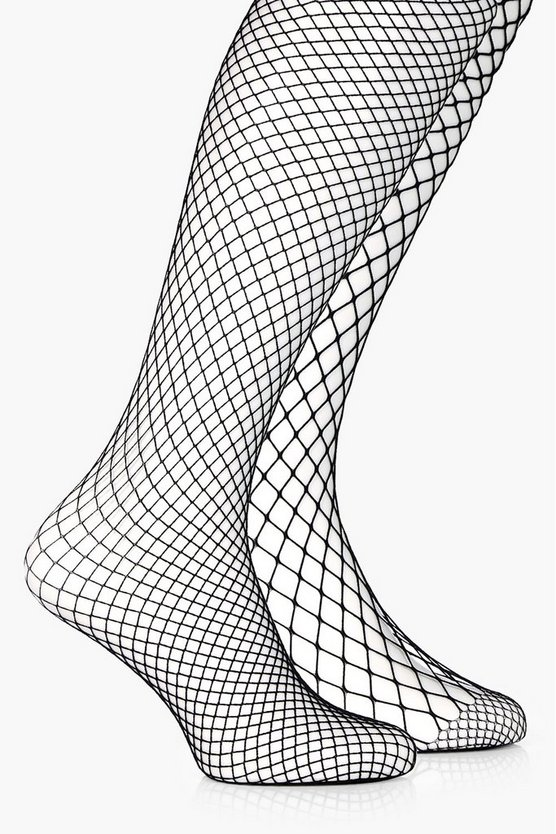 Mixed Scale Fishnet Tights 2 Pack