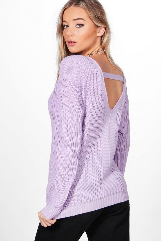Maria V-Back Fisherman Jumper