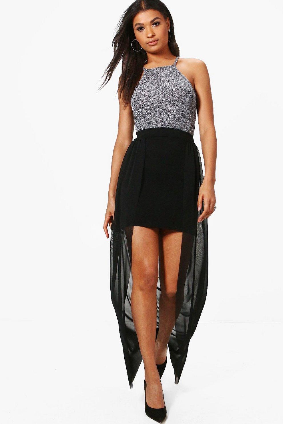 81935e8291 Ava Mesh Overlay Maxi Skirt