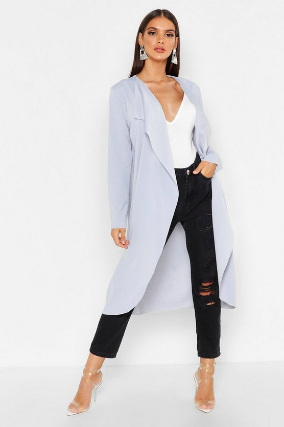 Grey Waterfall Duster