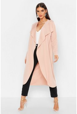 Womens Stone Waterfall Duster