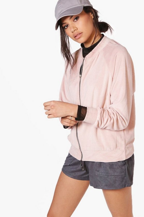 Georgina Oversized Teddy Bomber Jacket