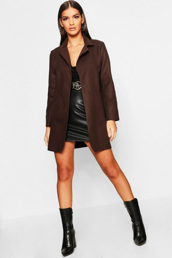 Womens Collared Coat