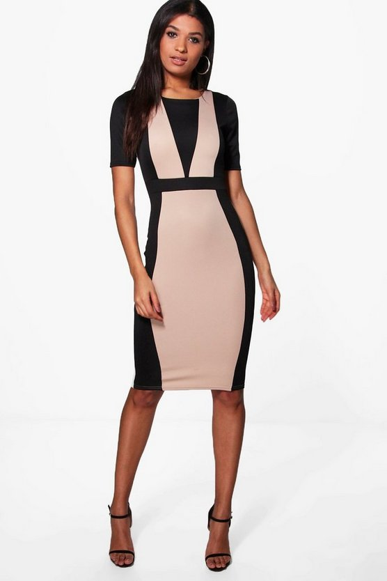 Molly Contrast Midi Dress