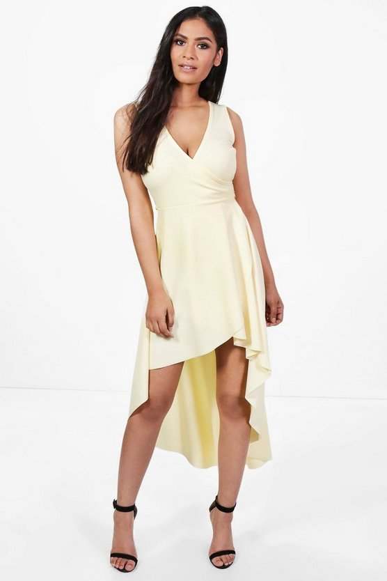 Stella Sleeveless Belted High Low Skater Dress