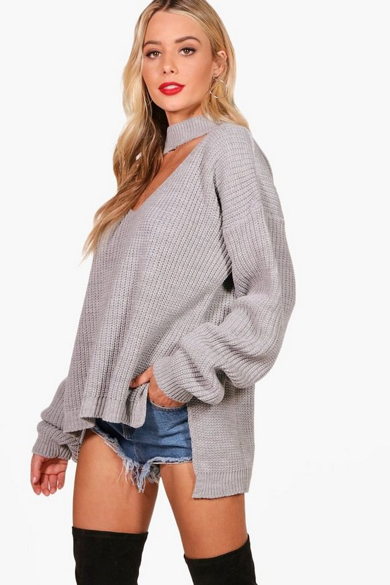 Choker Oversized Jumper