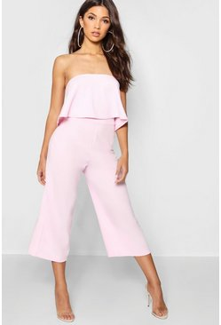 Soft pink Bandeau Top & Culottes Co-Ord Set