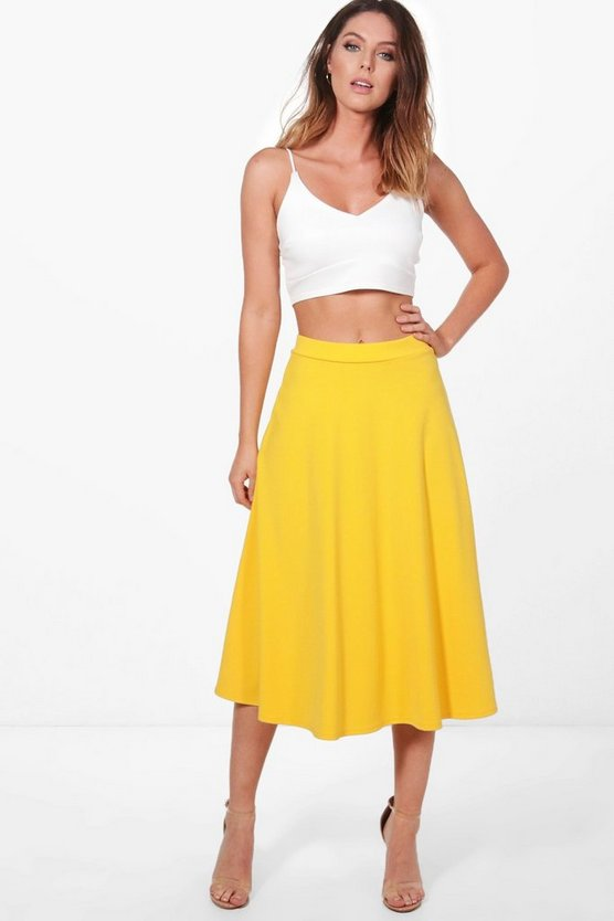 Willow Scuba Skater Midi Skirt & Bralet Co-ord Set