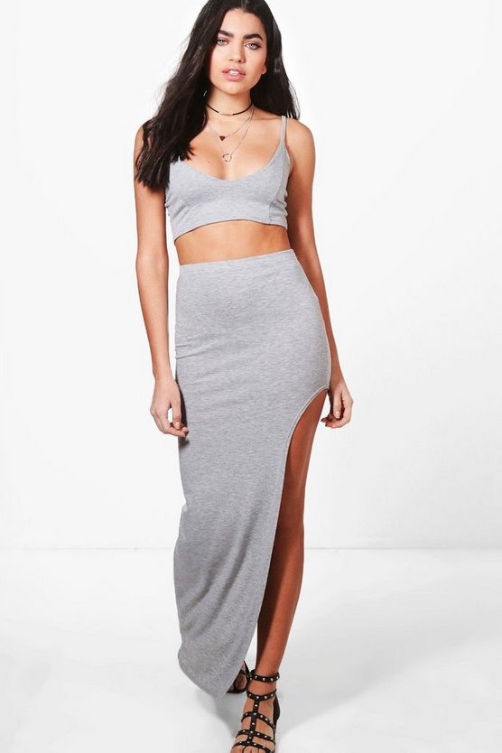 Rose Bralet & Split Midaxi Skirt