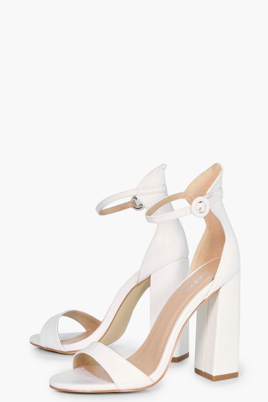 boohoo damen harriet zweiteilige sandalen mit absatz ebay. Black Bedroom Furniture Sets. Home Design Ideas