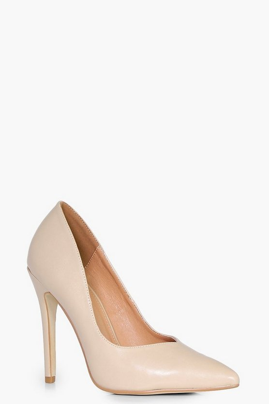 Rachel V Cut Toe Court Heels