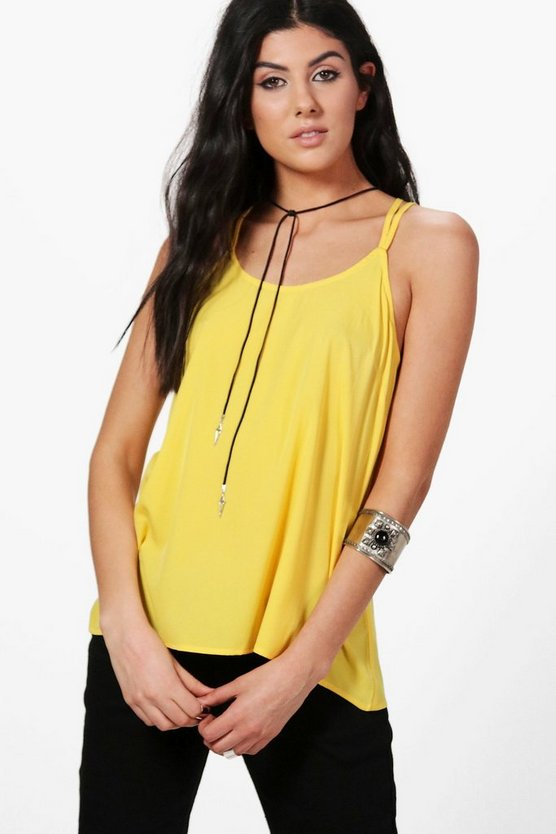 Annabel Woven Strappy Cami