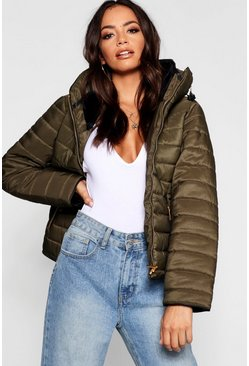 Khaki Quilted Jacket