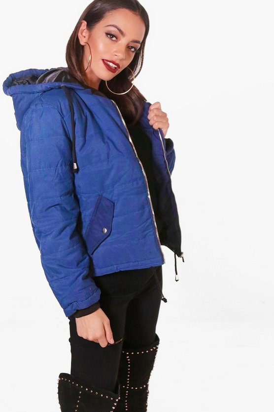 Womens Hooded Padded Jacket