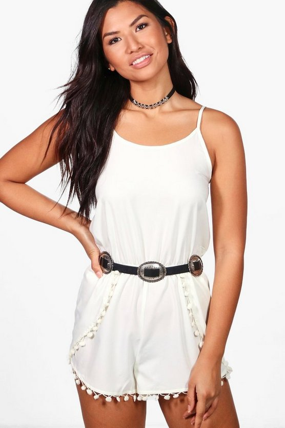 Pom Pom Detail Playsuit