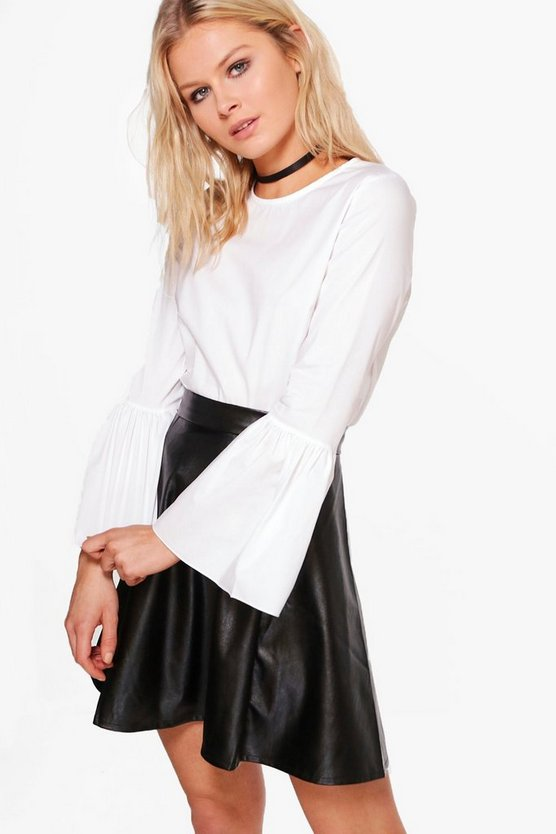 Louise Wide Sleeve Woven Shirt Top
