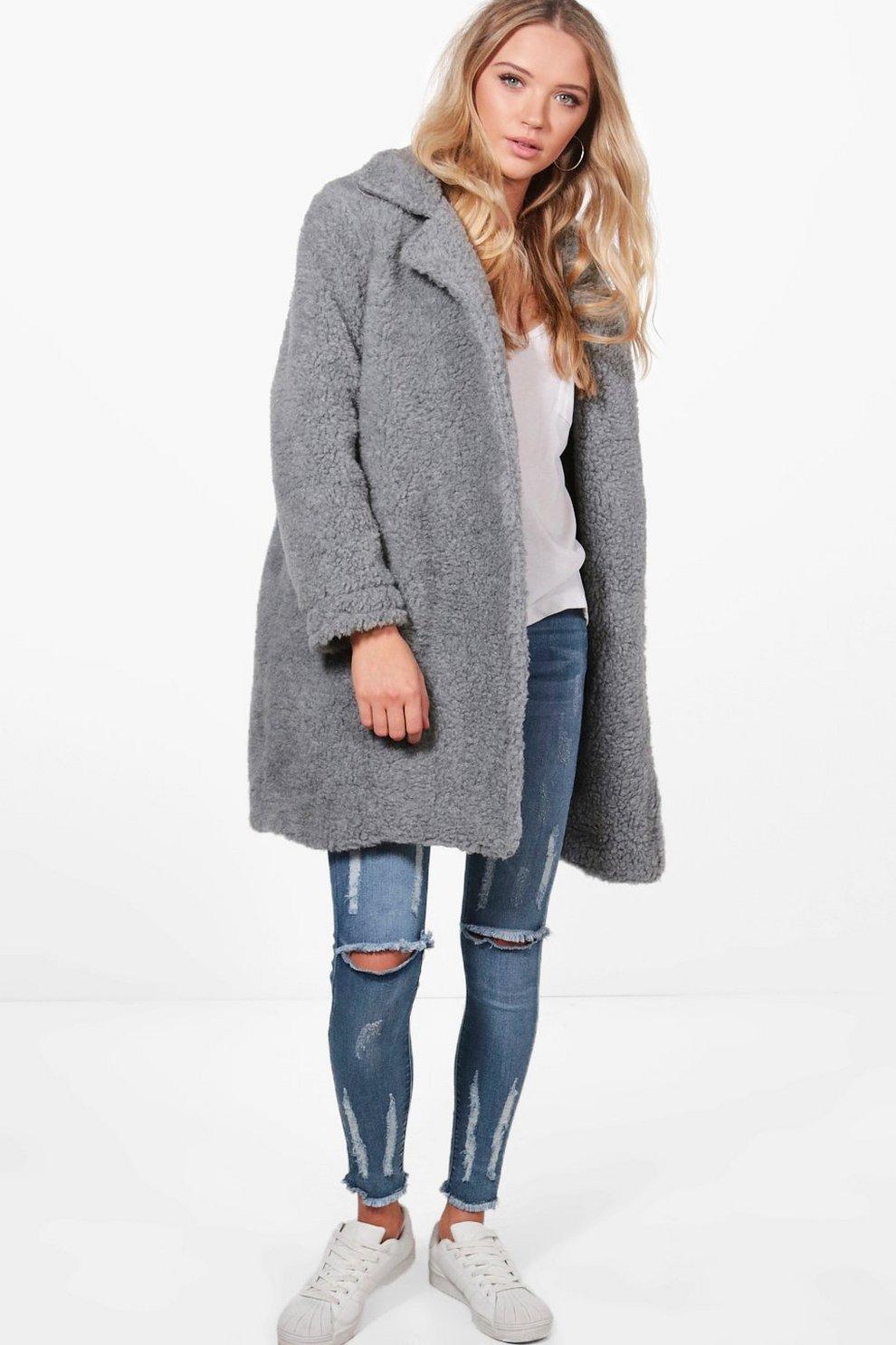 acacfb512a0b Phoebe Teddy Fur Coat | Boohoo
