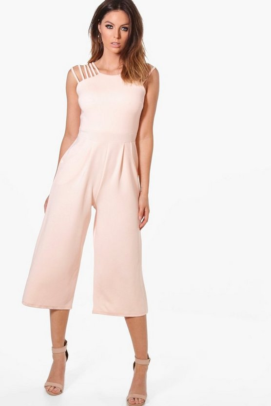 Strappy Detail Culotte Jumpsuit