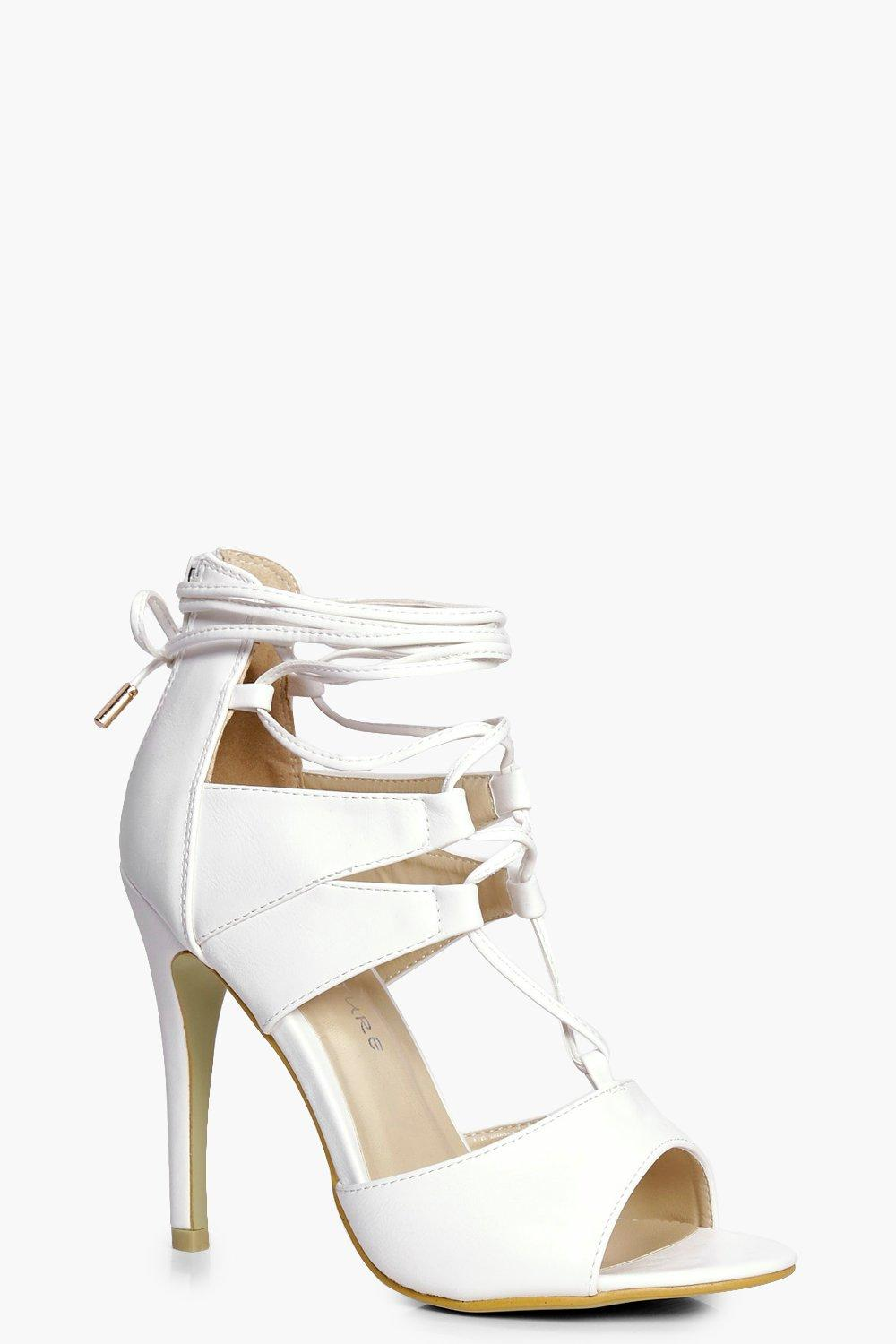 1c4169c8c17 Molly Ghillie Lace Up Heels   Boohoo