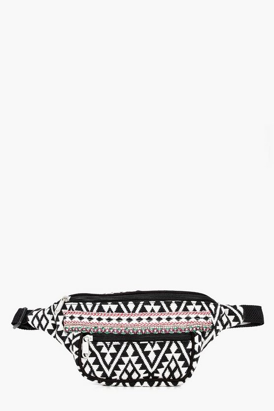 Grace Embroidered Edge Aztec Bumbag